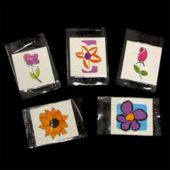 "Flower Tattoos-1 1/2"" -144 Pack"