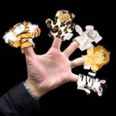 Wild Animal Plush Finger Puppets - 12 Pack