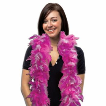 Hot Pink Multi-Tone Feather Boa - 6 Foot