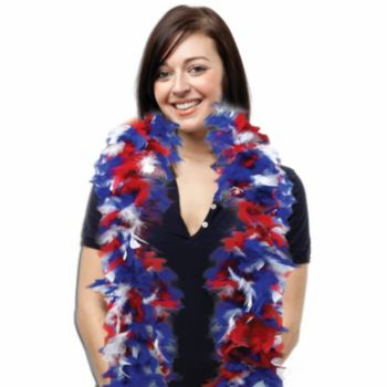 Red, White, and Blue Feather Boa - 6 Foot