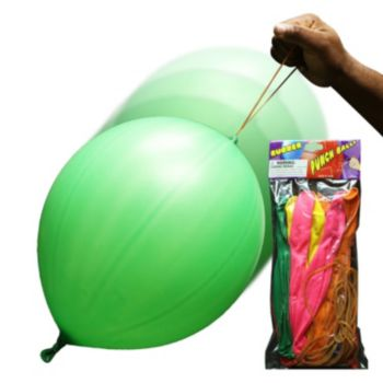 Latex Balloon Punch Balls - 12 Pack