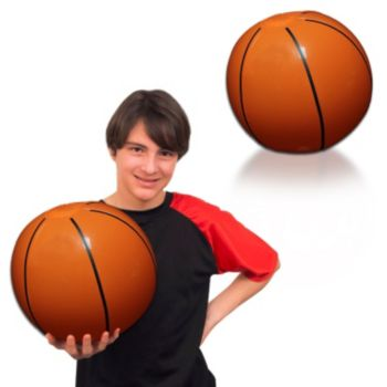 Inflatable Basketballs - 16 Inch, 12 Pack