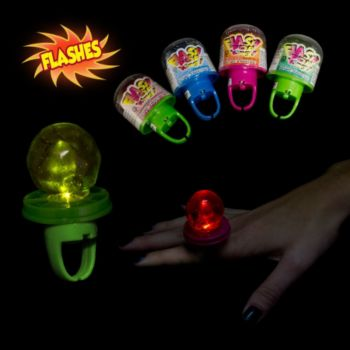 Flashing Multi-Color LED Candy Rings - 24 Pack