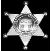 "Silver Plastic 3"" Sheriff's Badges - 12 Pack"