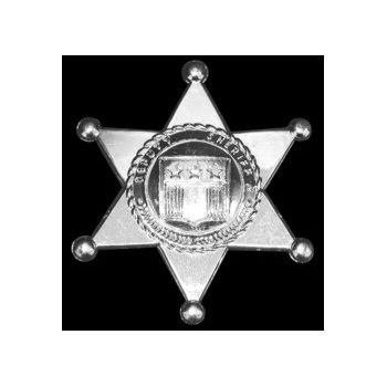 "SILVER PLASTIC   3"" SHERIFF'S BADGES"