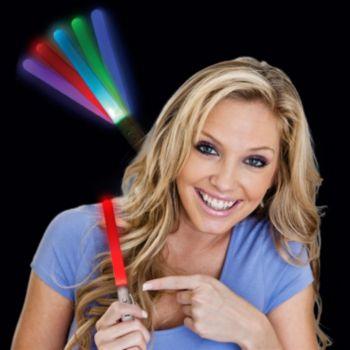 Flashing Multi-Color LED Light Stick - 8 Inch, 12 Pack