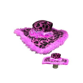 "PINK ANIMAL PRINT ""SHOW DADDY"" HAT"