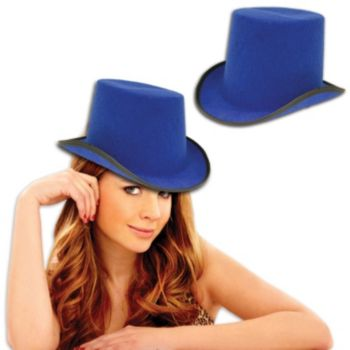 Blue Felt Top Hat