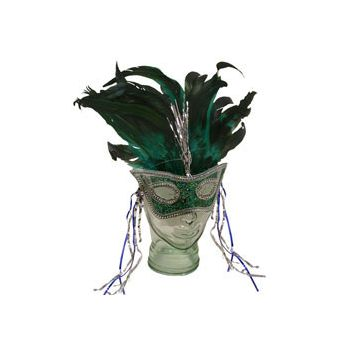 FEATHER HEADBAND AND MASK