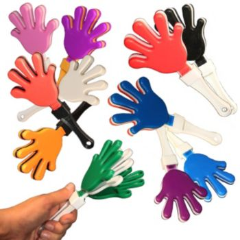 7 Inch Hand Clappers in Assorted Colors