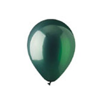 Green Crystal Latex Balloons - 12 Inch, 100 Pack