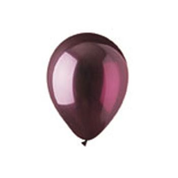 Burgundy Crystal Latex Balloons - 12 Inch, 100 Pack