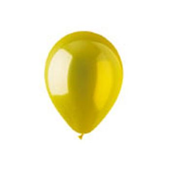 Yellow Crystal Latex Balloons - 12 Inch, 100 Pack