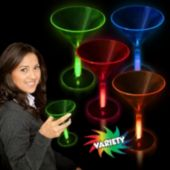 Glowing Martini Glasses-8 1/2oz-4 Pack