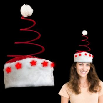 Flashing Spring Tree LED Santa Hat