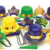 MARDI GRAS PARTY KIT FOR 25
