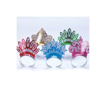 ASSORTED COLOR   GLITTER TIARAS