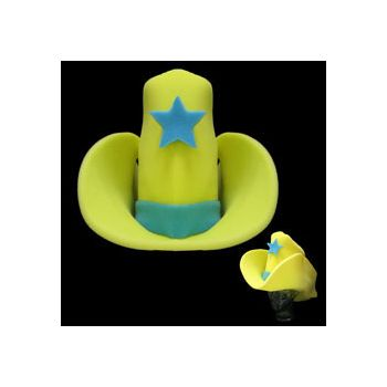 GIANT  YELLOW   FOAM COWBOY HAT