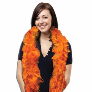 Orange Feather Boa - 6 Foot