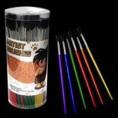 "144 Pieces 7"" Paint Brush Set In Assorted Sizes"