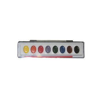 "8"" EIGHT COLOR WATER PAINT SET"