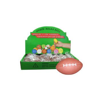 "FOOTBALL SHAPED   2 12"" STRESS BALLS"