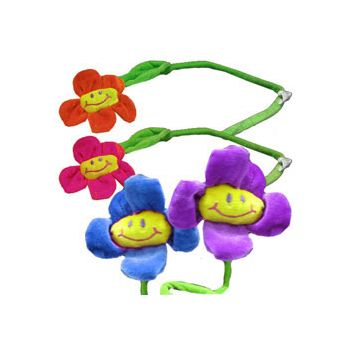 "Plush 23"" Daisy Flowers Bendable Stems"