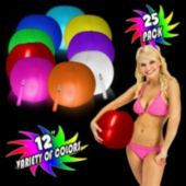 Glowing 12'' Beach Balls - Variety of Colors
