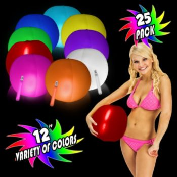 12 Inch Glowing Beach Balls