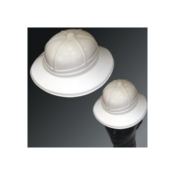 WHITE PLASTIC SAFARI HAT