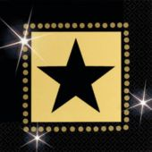 Star Attraction Beverage Napkins - 16 Pack