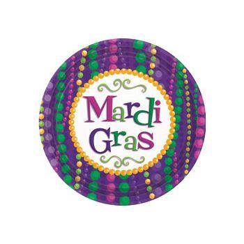 "MARDI GRAS BEAD 7""  PLATES"