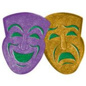 "Glitter Mardi Gras 21"" Mask Decorations"