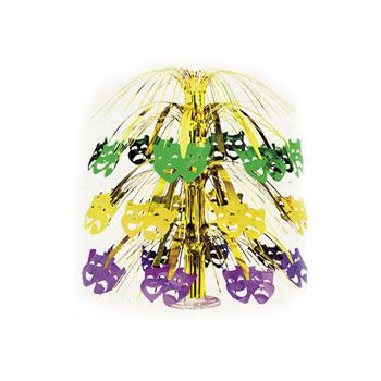 MARDI GRAS MASK    METALLIC CENTERPIECE