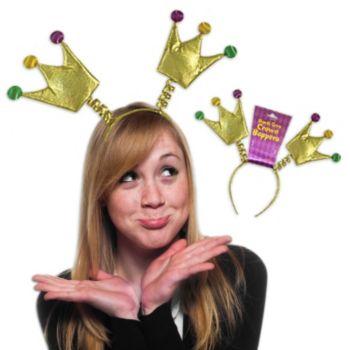Mardi Gras Crown Head Boppers