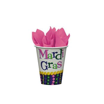 MARDI GRAS BEAD 9oz PAPER CUPS