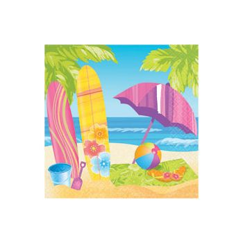 SURF'S UP  LUNCHEON NAPKINS
