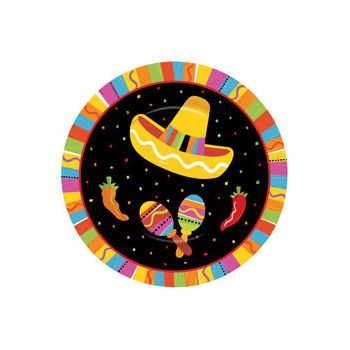 "FIESTA PARTY  7"" PLATES"