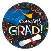 Congrats Grad Theme Party 7 Inch Paper Plates