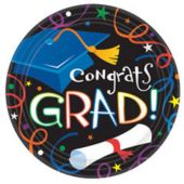 Congrats Grad Theme Party 9 Inch Paper Plates