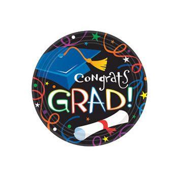 """Congrats Grad 9"""" Plates"""