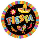 "Fiesta Party 10 1/2"" Paper Plates - 8 Pack"