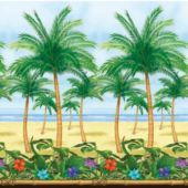 Palm Tree Tropical Island Scene Setter