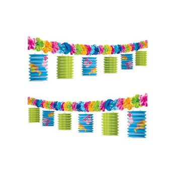 Flip Flop Lanterns   Flower 10' Garland