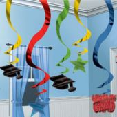 Graduation Hanging Swirls Decoration-15 Pack