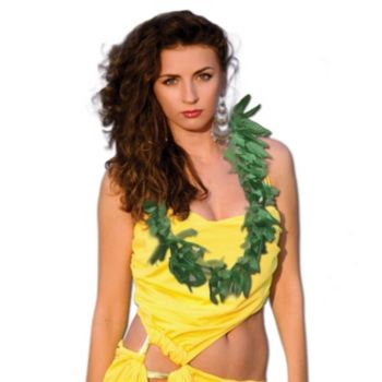 Tropical Fern Leaf Lei - 40 Inch