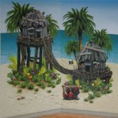 Pirate Hideaway Island Scene Setter Add Ons