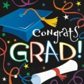Congrats Grad Theme Party Luncheon Napkins