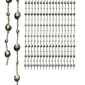 "Silver Disco Ball Beaded Plastic 24"" x 78"" Door Curtain"