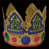 Child Size Colorful Plastic Crown